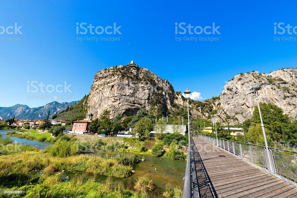 Cliffs of Arco di Trento - Trentino Italy stock photo