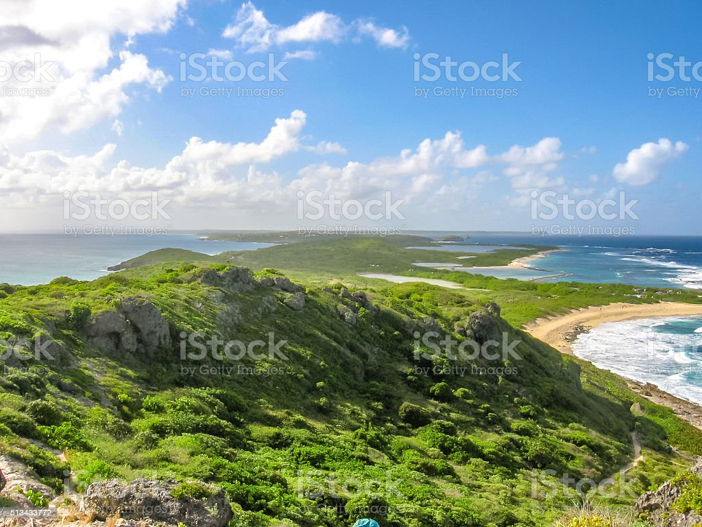 Cliffs of Guadeloupe stock photo