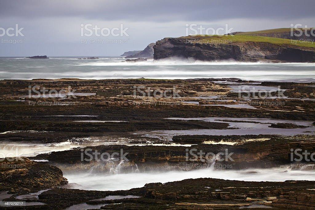 Cliffs of Kilkee royalty-free stock photo