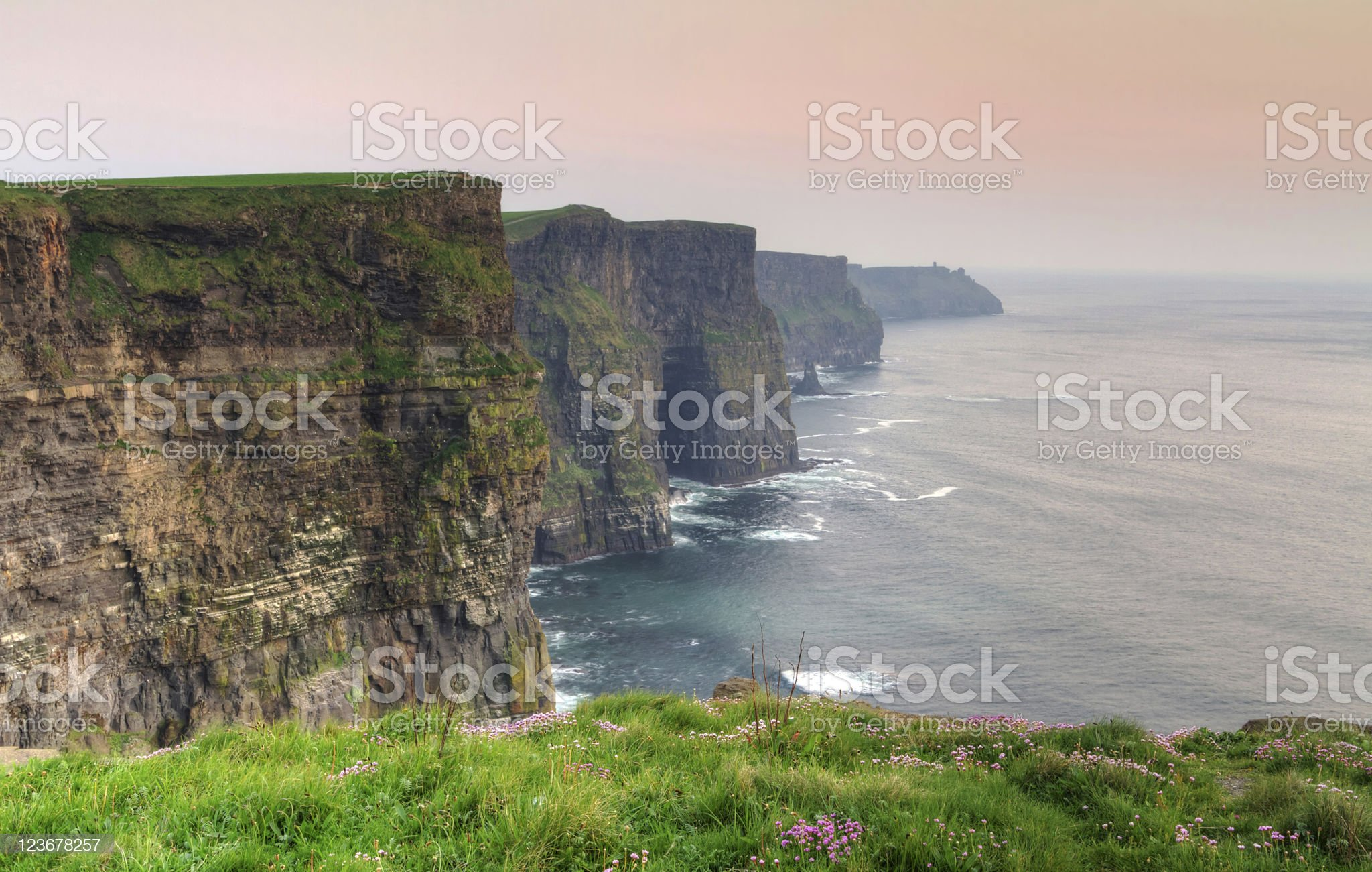 Cliffs of Moher at dusk royalty-free stock photo