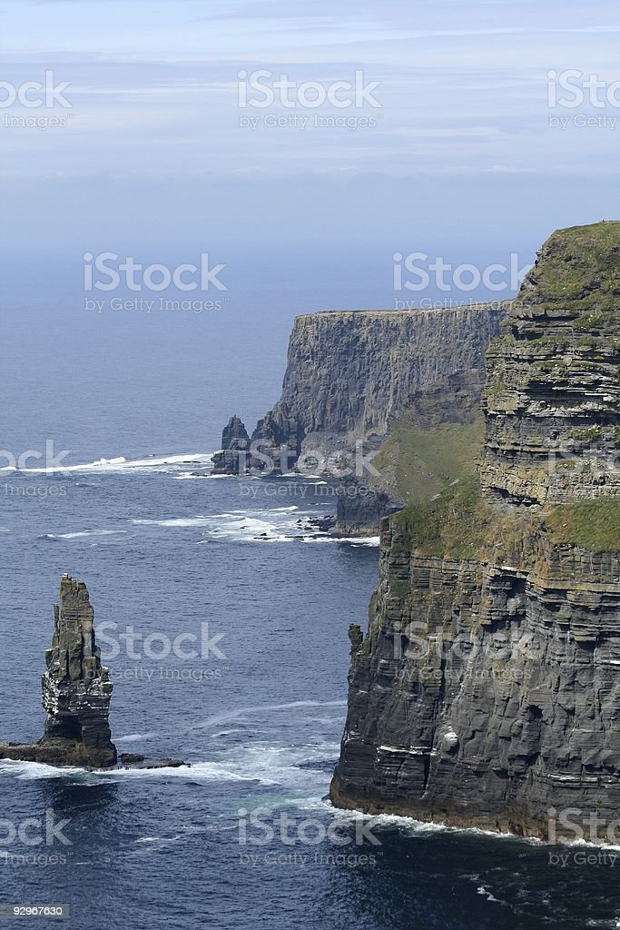 Cliffs of Moher Coastline and Rock royalty-free stock photo