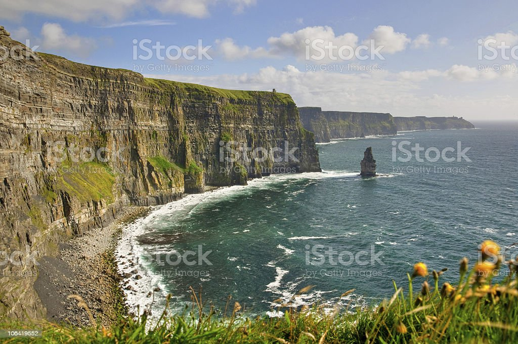 cliffs of moher, county clare, wild atlantic way route, ireland royalty-free stock photo