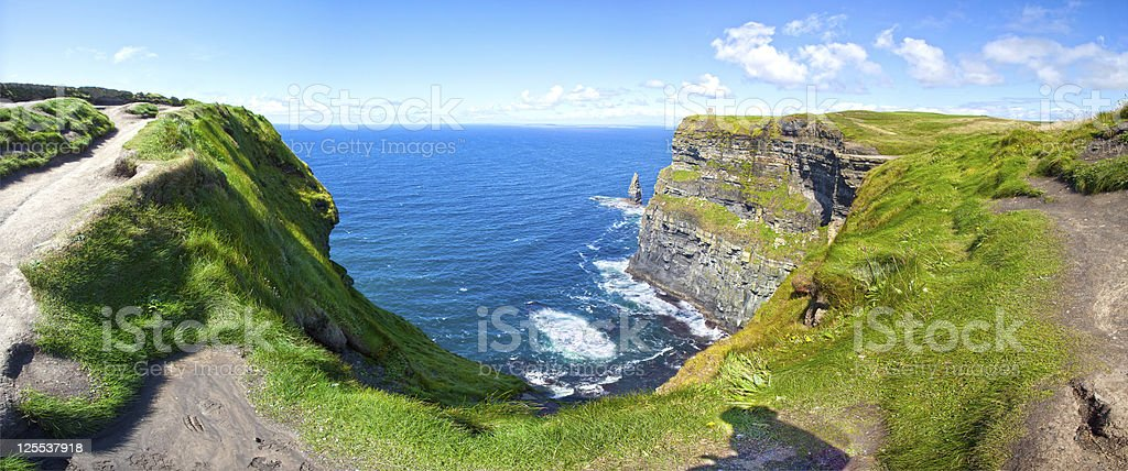 Cliffs Of Moher in a Sunny Day stock photo
