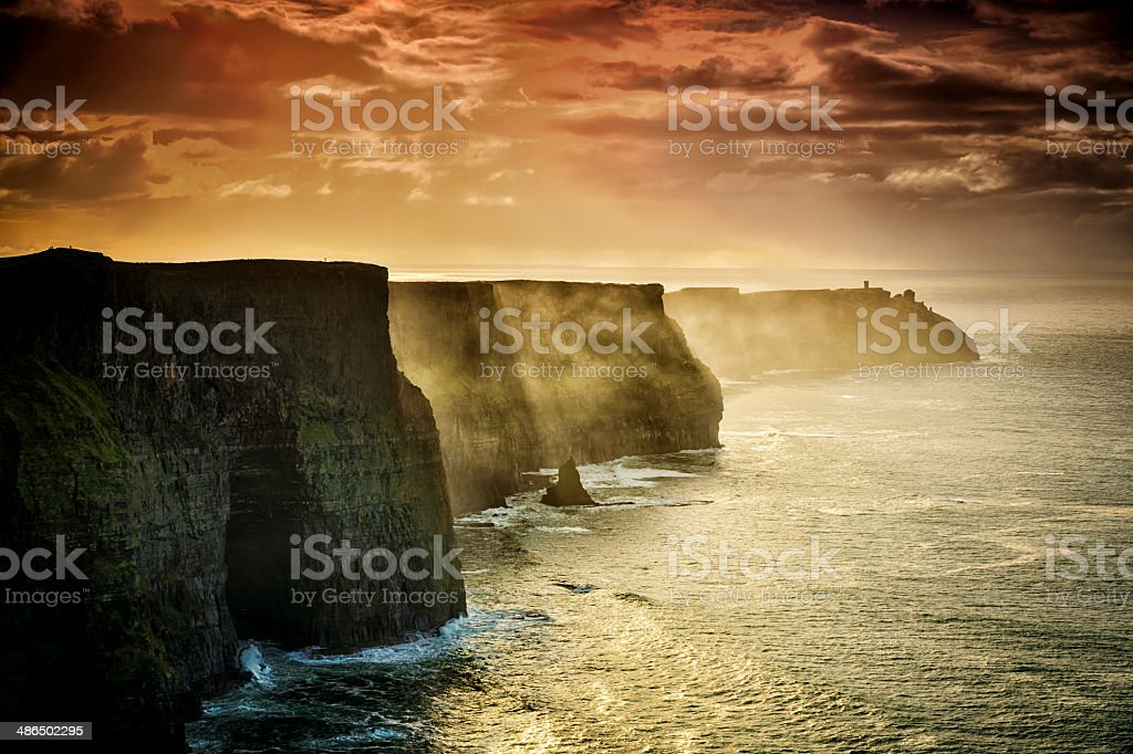 Cliffs of Moher, Ireland stock photo