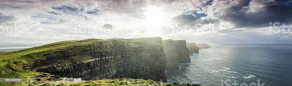 Cliffs of Moher, Ireland, XXXL panorama royalty-free stock photo