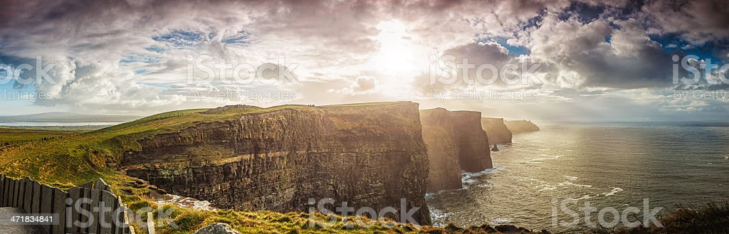 Cliffs of Moher, Ireland, XXXL panorama stock photo
