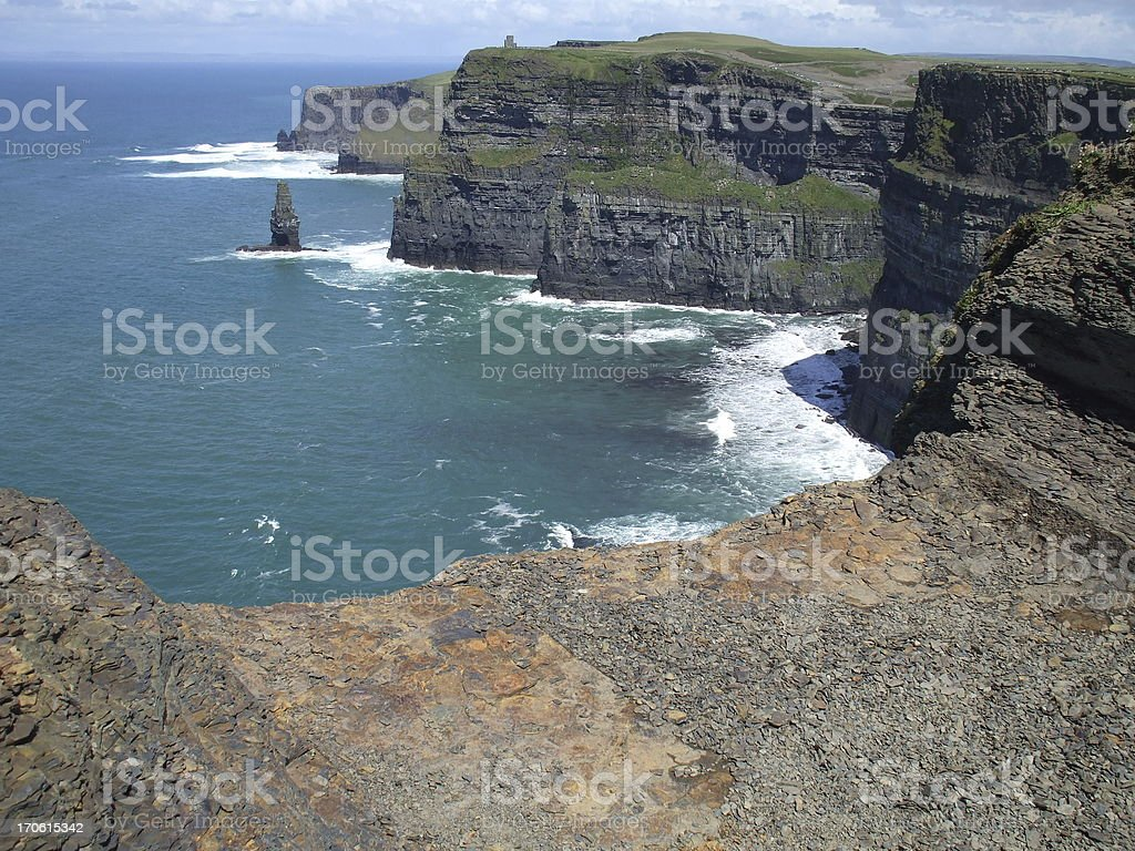 Cliffs of moher landscape royalty-free stock photo