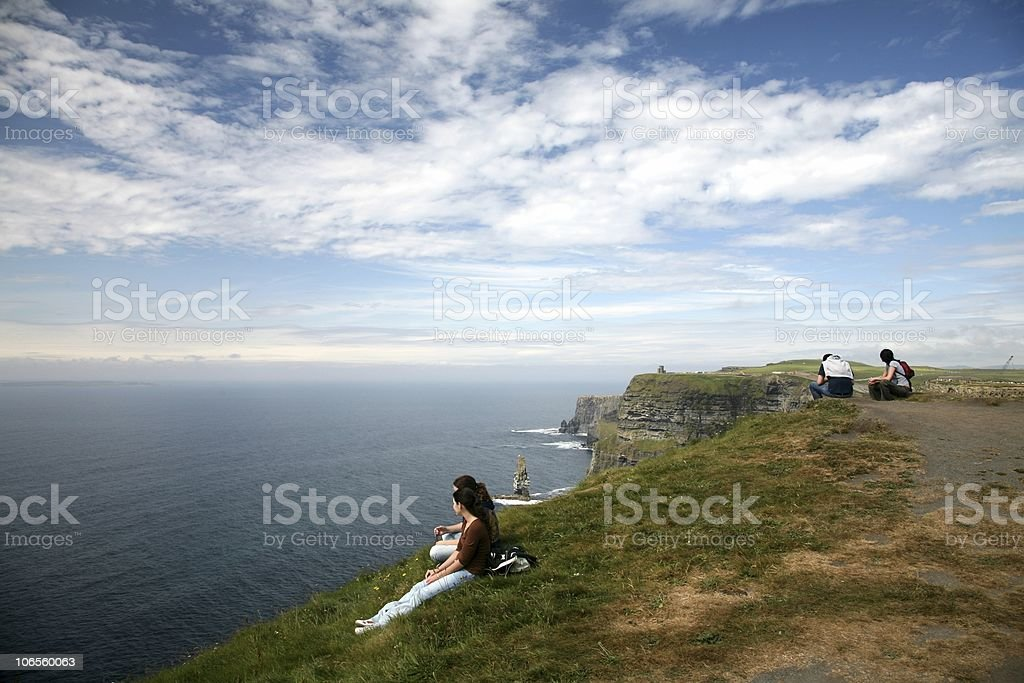 Cliffs of Moher On Top Under Sky stock photo