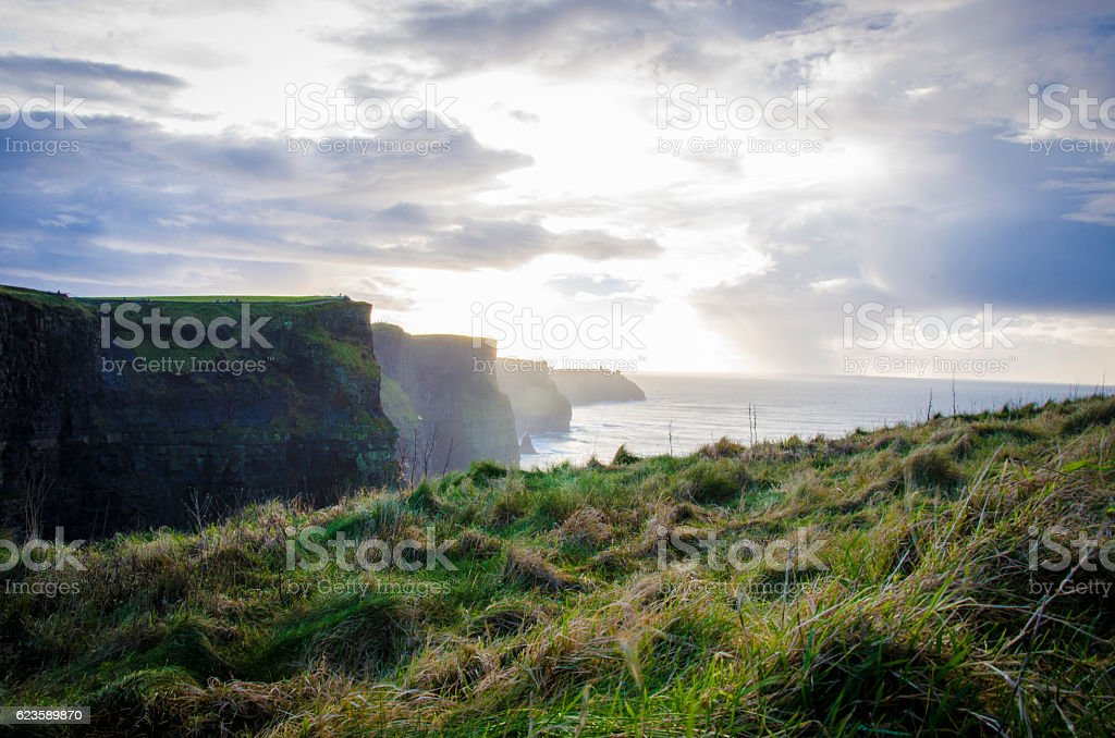 Cliffs of Moher- Republic of Ireland stock photo