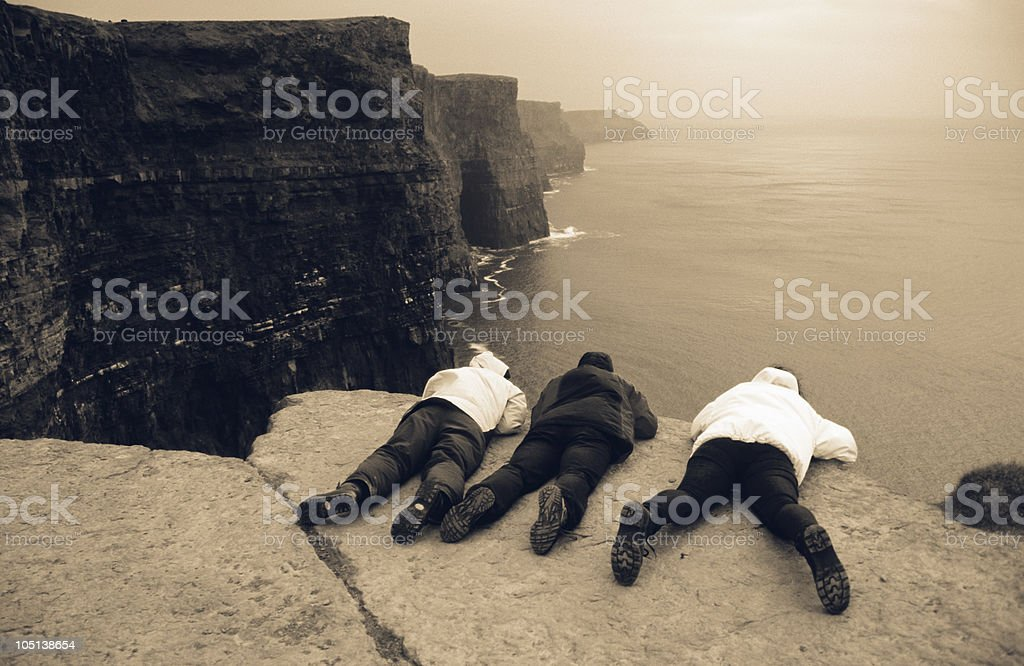 Cliffs of Moher visitors royalty-free stock photo
