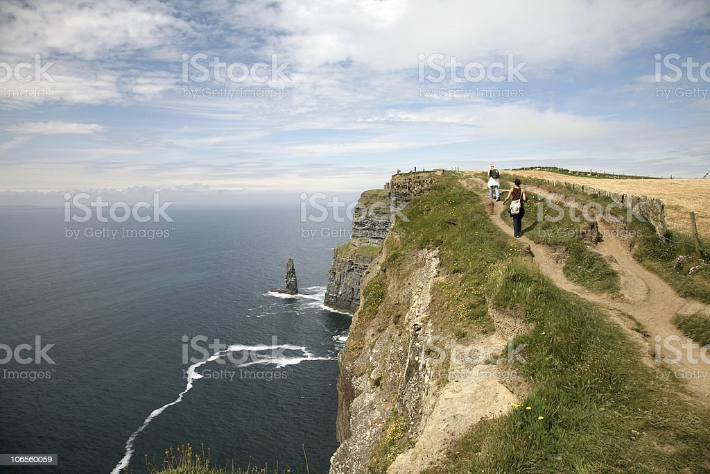 Cliffs of Moher Walking stock photo