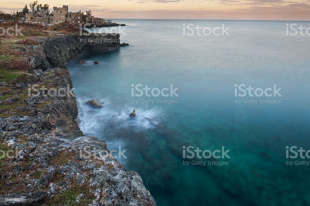Cliffs of Negril Jamaica. stock photo