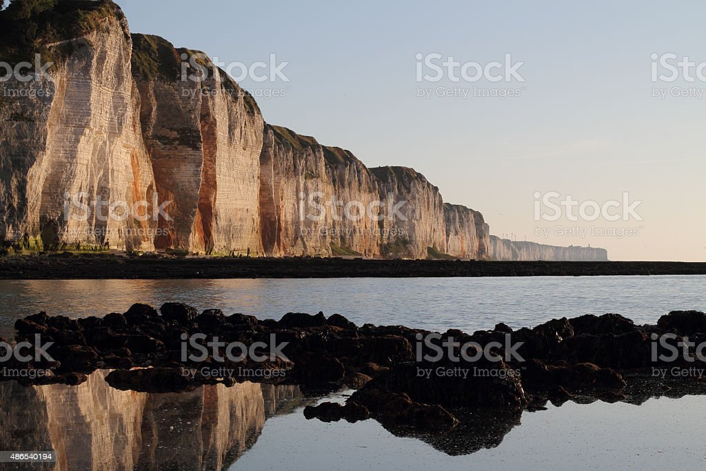 cliffs of Normandy stock photo