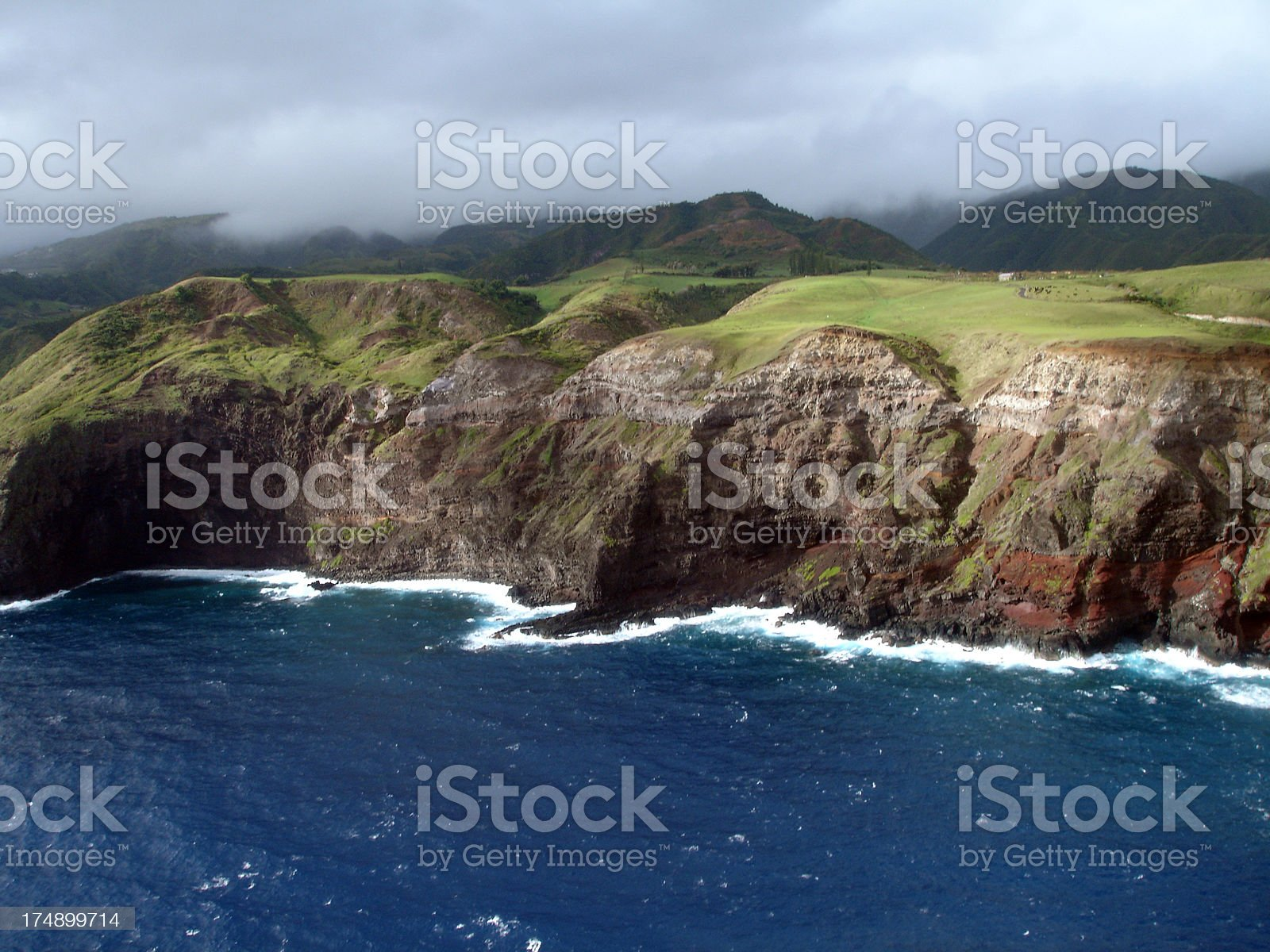 Cliffs of North Maui royalty-free stock photo
