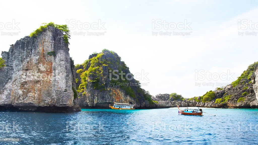 Cliffs of paradise stock photo