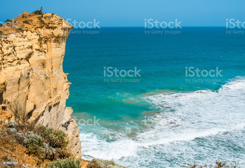 Cliffs of The Great Ocean Road, Australia. stock photo