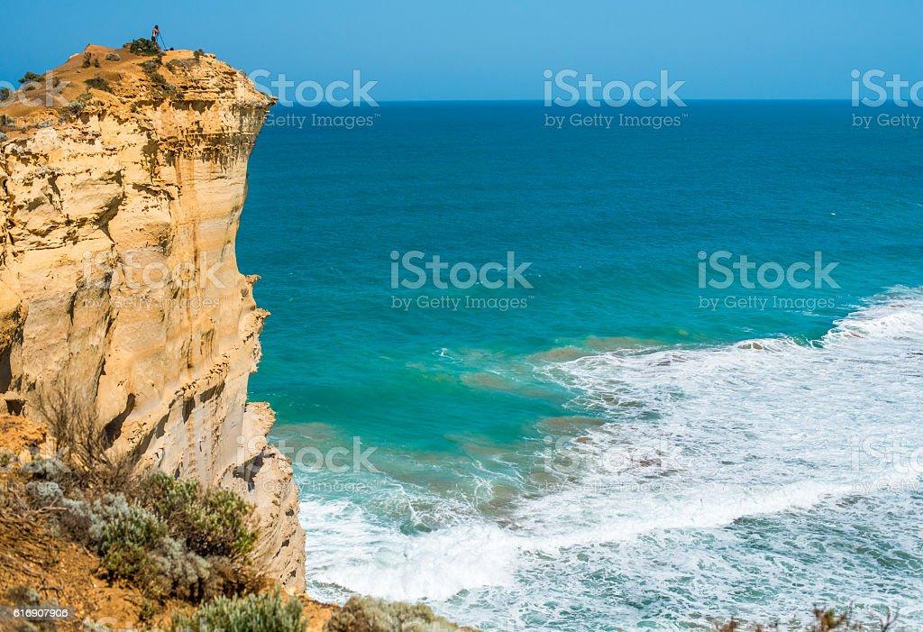 Cliffs of The Great Ocean Road, Australia. stock photo