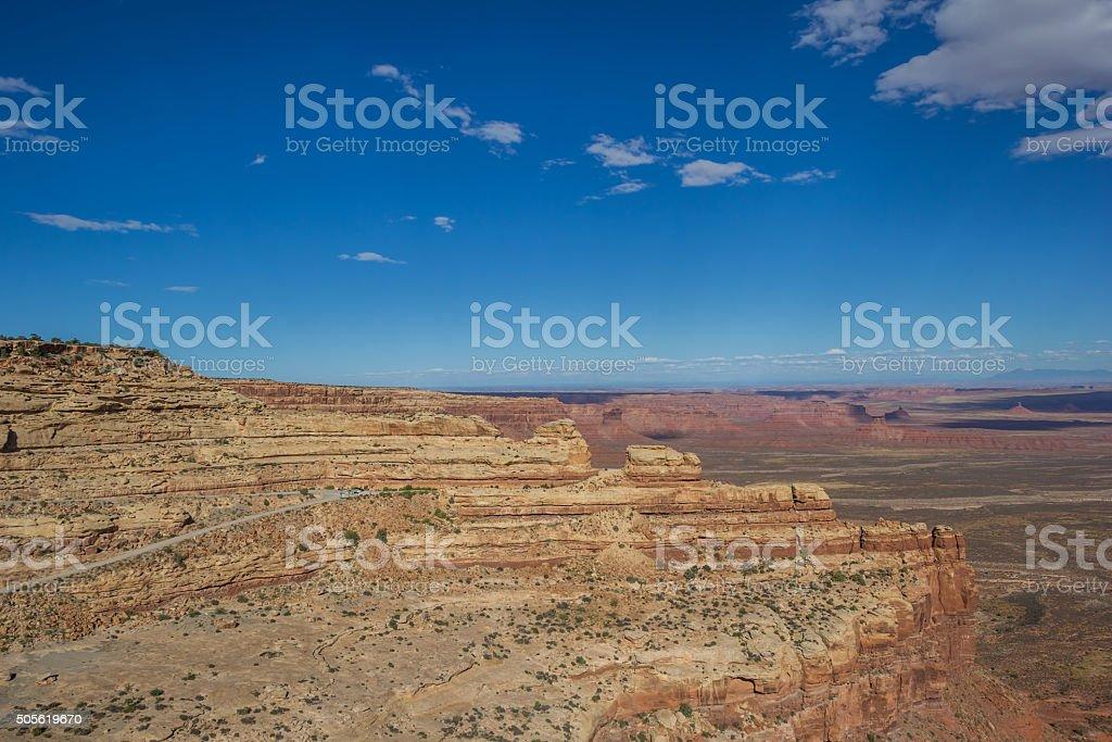 Cliffs of the Moki Dugway in Utah stock photo