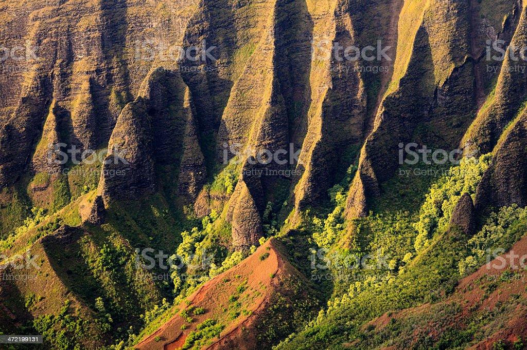 Cliffs of the Na Pali Coast royalty-free stock photo