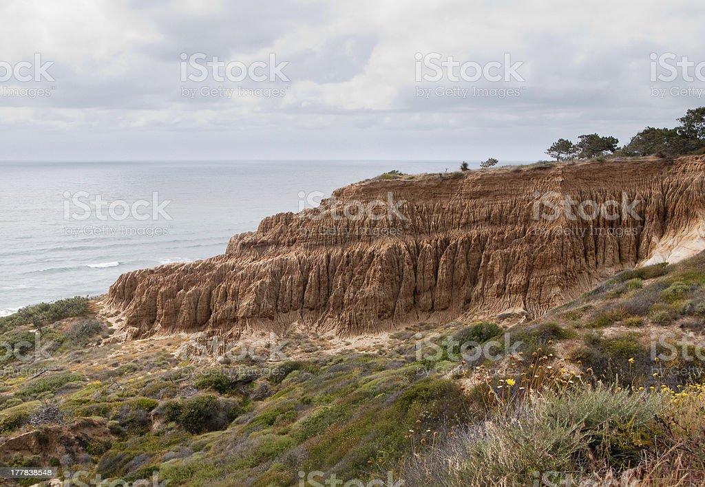 Cliffs off Torrey Pines state park stock photo