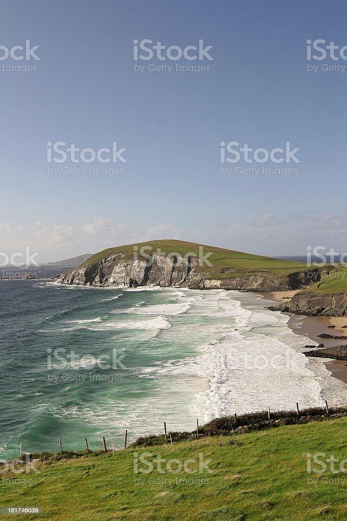 Cliffs on Dingle Peninsula, Ireland stock photo