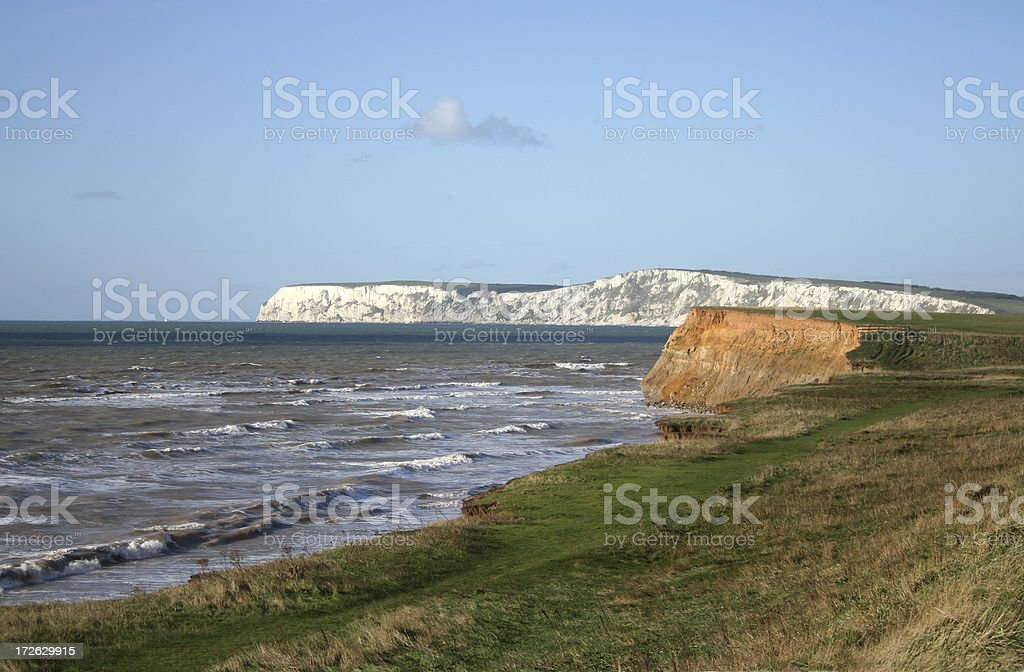 Cliffs on the Isle of Wight stock photo