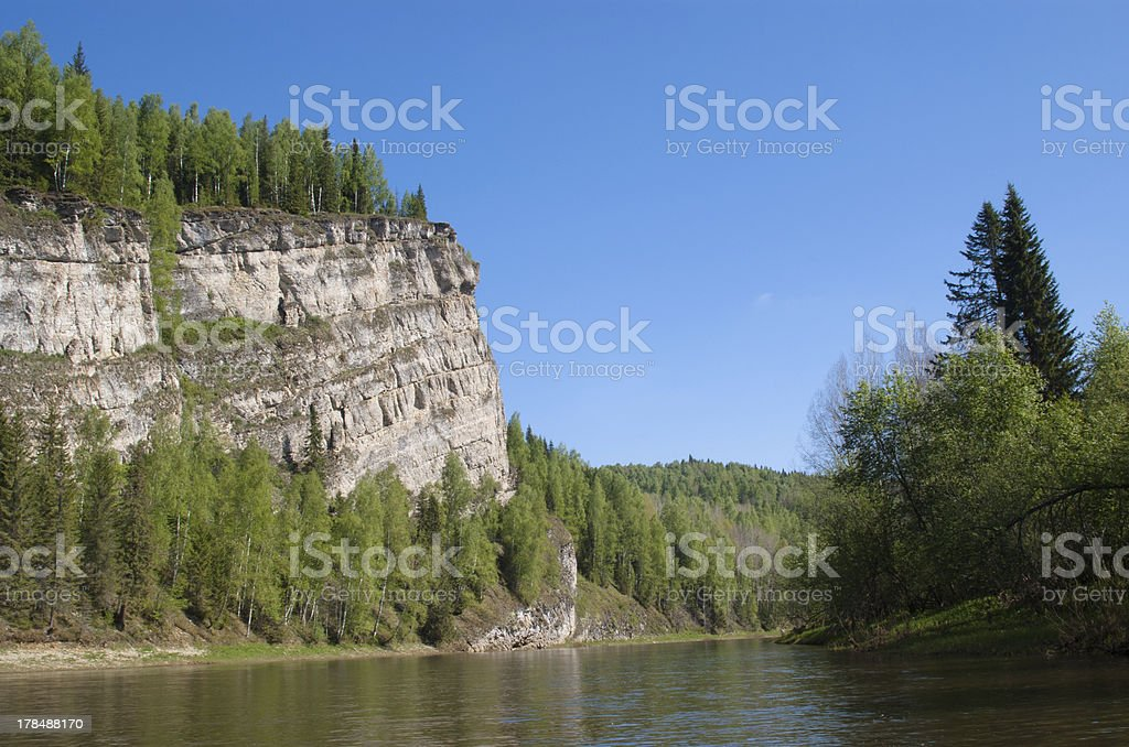 Cliffs on the shore royalty-free stock photo