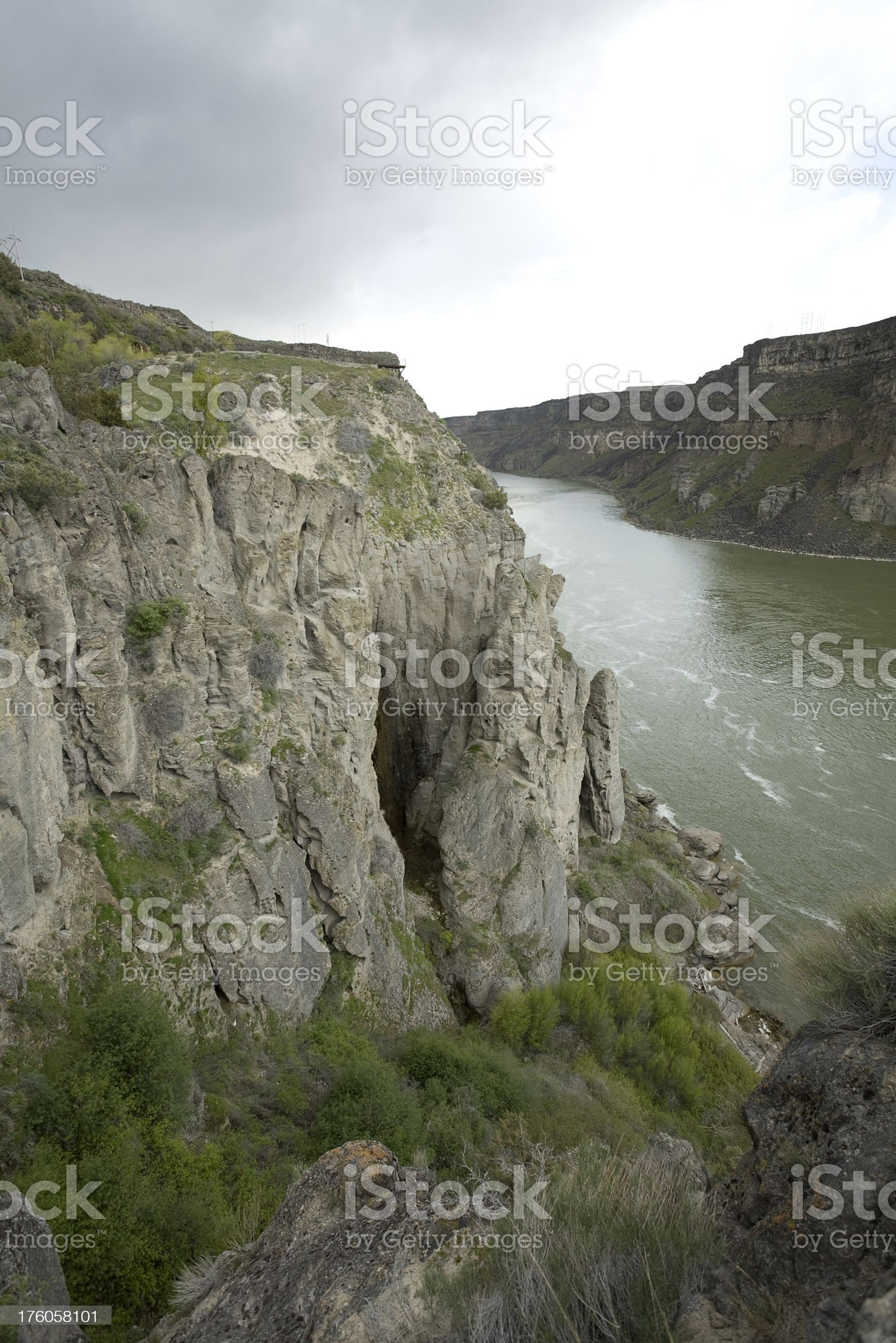 Cliffs on the Snake River. royalty-free stock photo