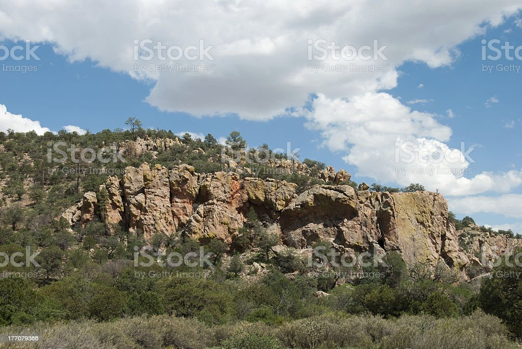 Cliffscape in Southern New Mexico royalty-free stock photo