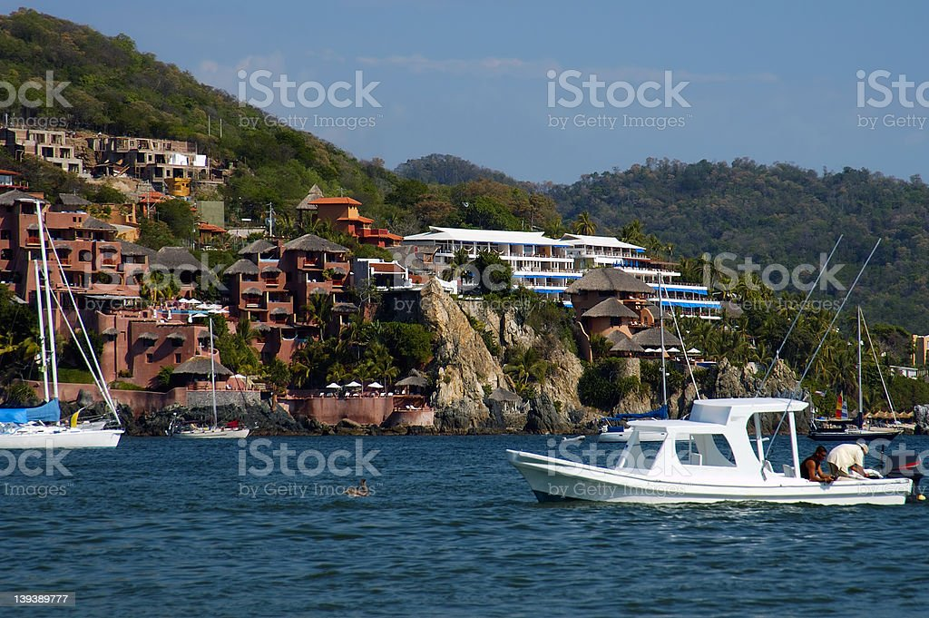 Cliffside Houses stock photo
