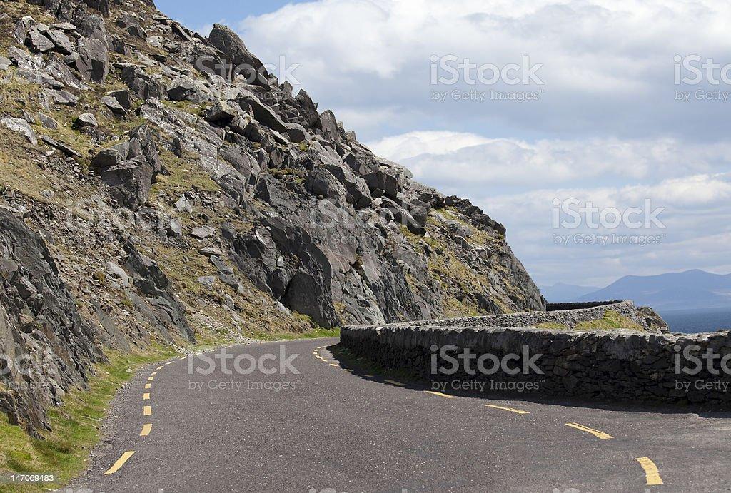 Cliffside Road, Slea Head, Ireland royalty-free stock photo