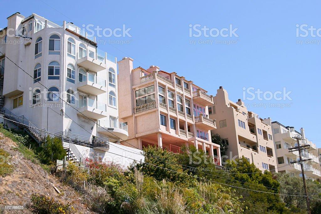 Cliffside Row royalty-free stock photo