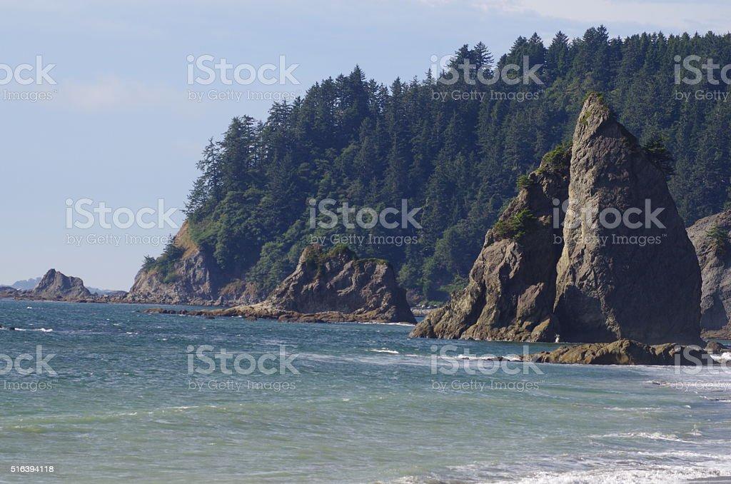 Cliffside seaside stock photo