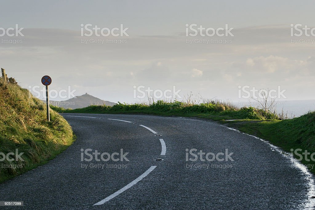 Clifftop Road royalty-free stock photo