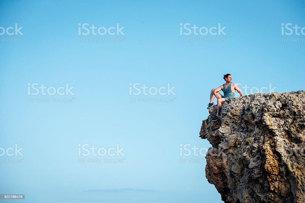 Clifftop Training stock photo
