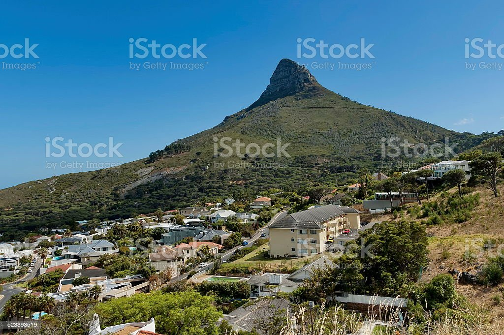 Clifton and Lion's head, Atlantic ocean, Cape town stock photo