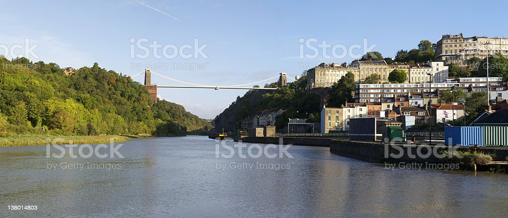 Clifton and River Avon, Bristol royalty-free stock photo