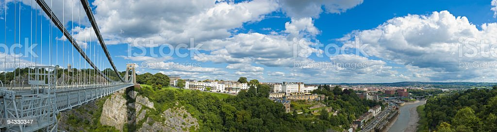 Clifton and River Avon, Bristol, UK stock photo