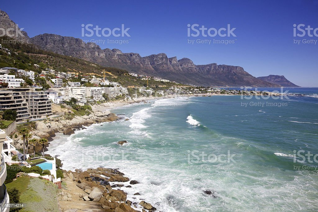 Clifton Beach stock photo