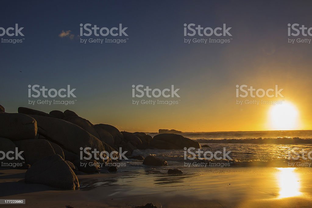 Clifton Beach Sunset stock photo