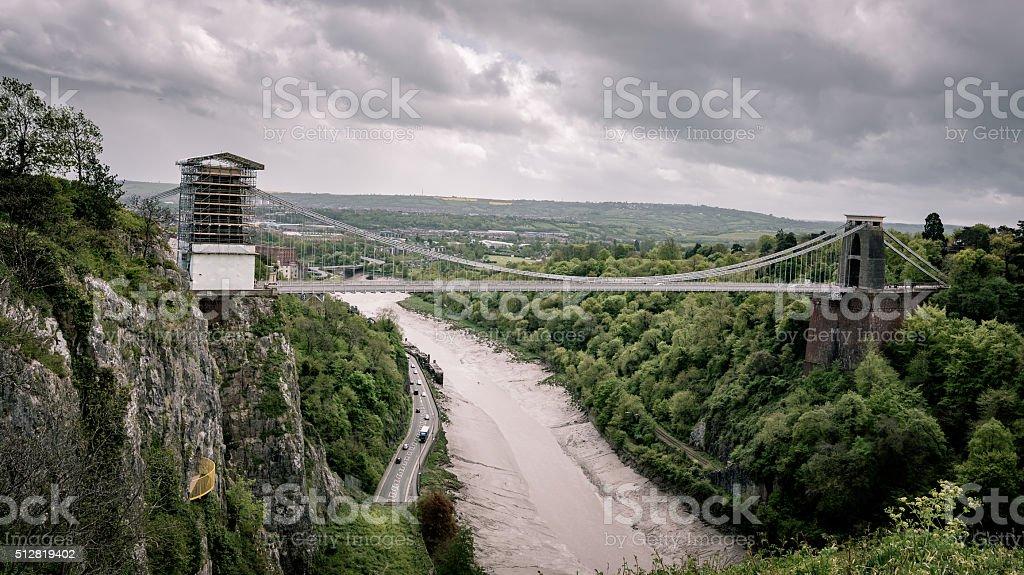 Clifton Bridge, Bristol stock photo