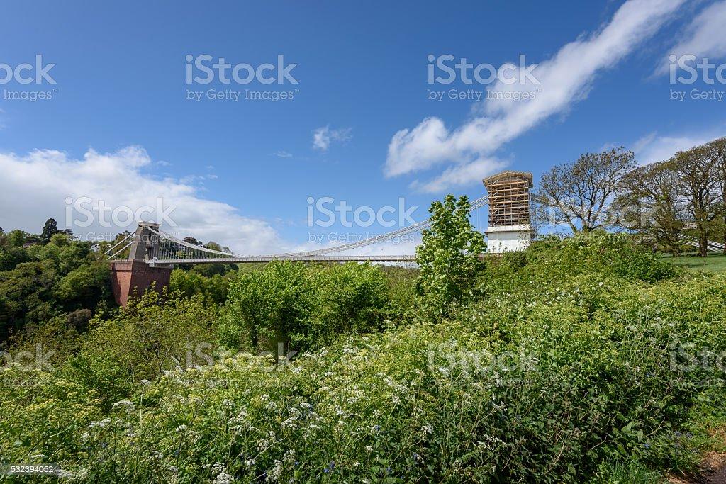 Clifton bridge Bristol stock photo