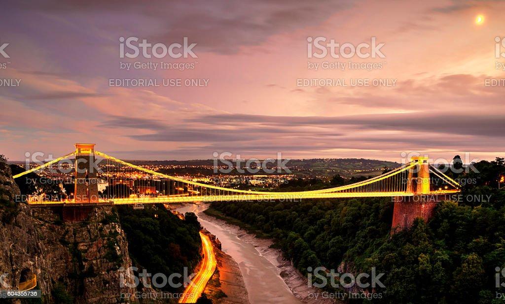 Clifton bridge stock photo