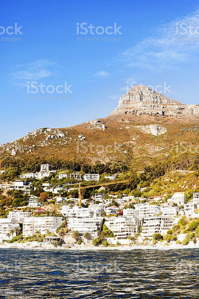 Clifton in Cape Town, South Africa with Signal Hill stock photo