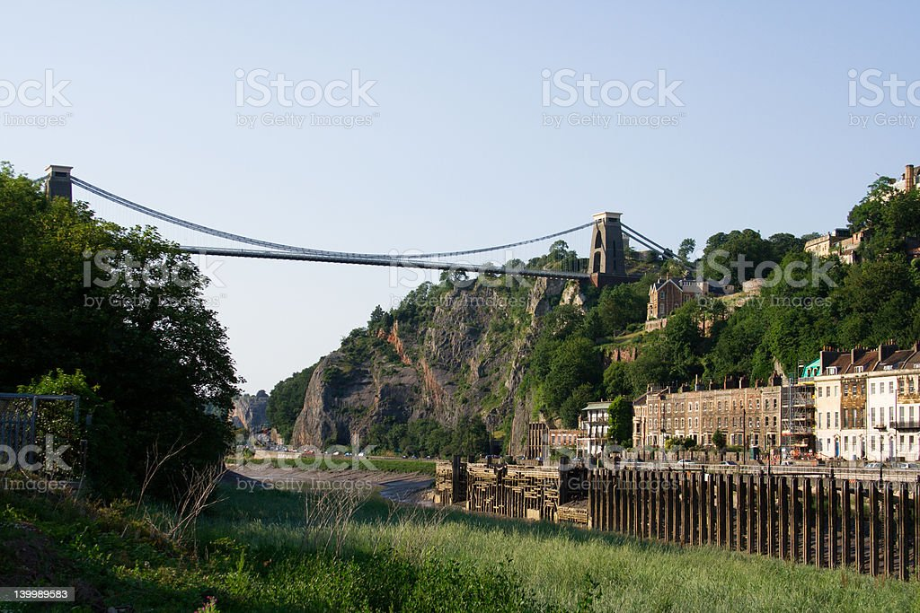 Clifton Suspension Bridge and the River Avon royalty-free stock photo