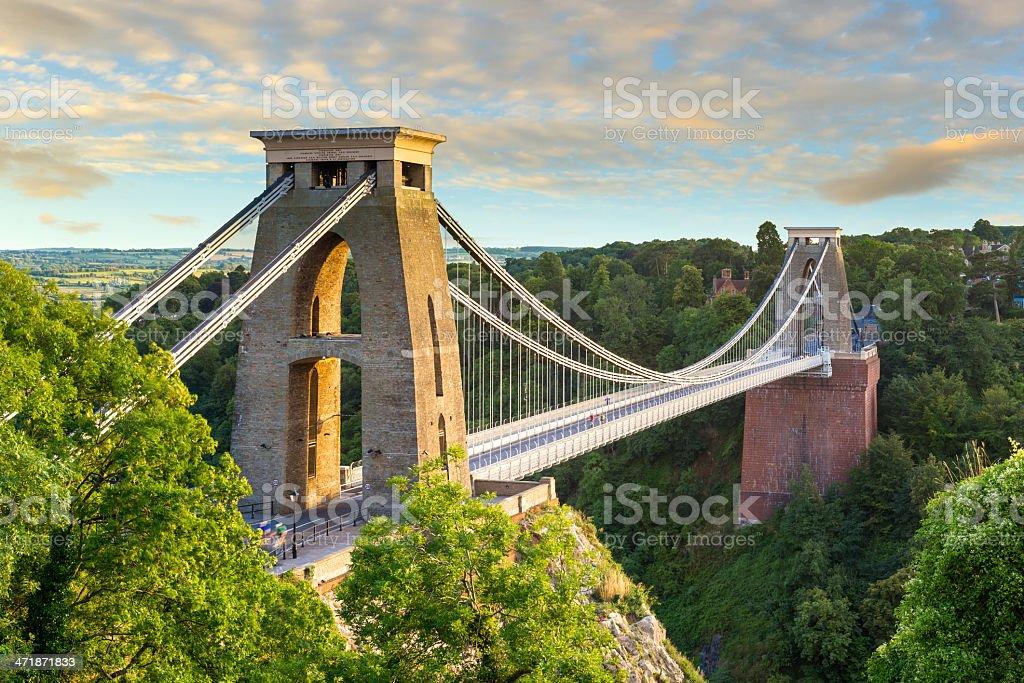Clifton Suspension Bridge, Bristol, England stock photo