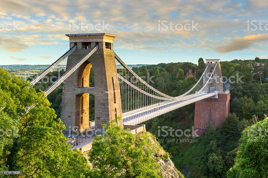 Clifton Suspension Bridge, Bristol, England stock photo