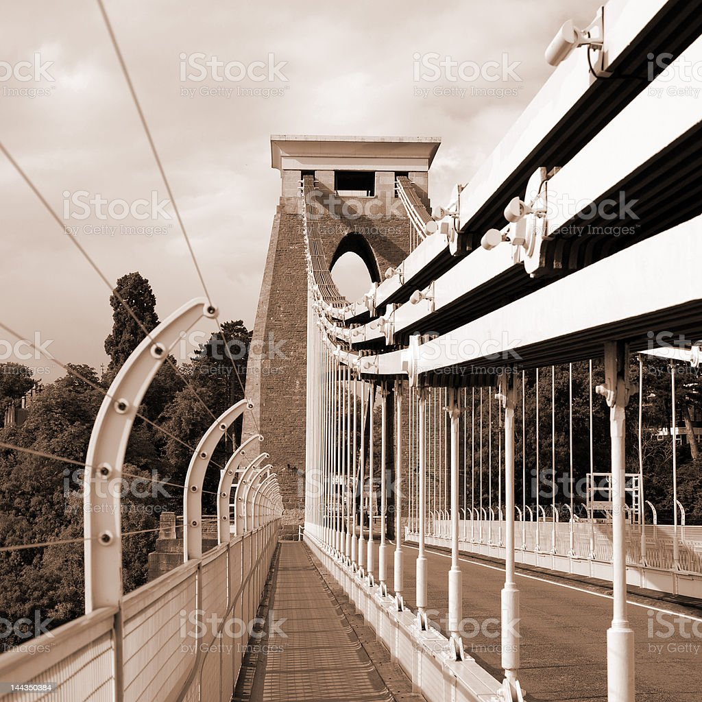 Clifton Suspension Bridge, Bristol stock photo