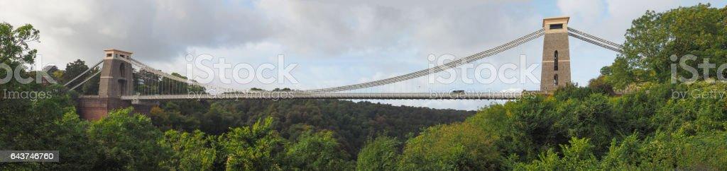 Clifton Suspension Bridge in Bristol stock photo