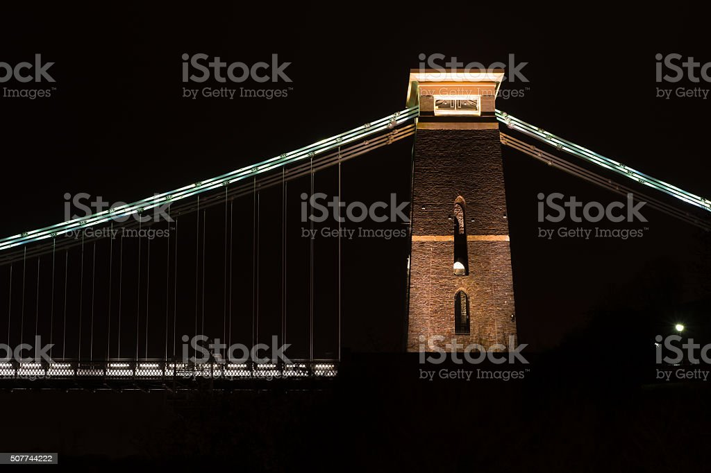 Clifton Suspension Bridge, north east tower stock photo